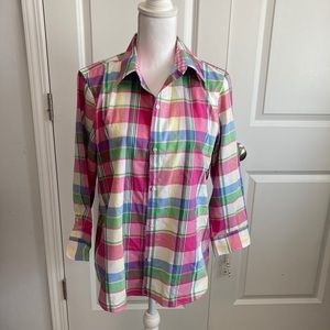 Chaps button up long sleeve top